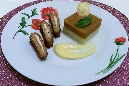 Cordon bleu, purée et sauce au fromage