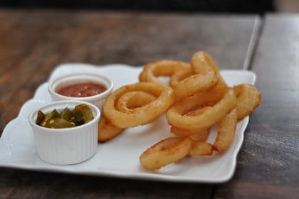Rondelles d'oignons frits (onion rings)